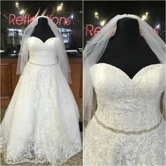 2016 Plus Size Wedding Dresses With Free Veil And Sweetheart Neckline Real Pictures Lace Appliques Tulle Ball Gown Bridal Gowns Beaded Sash Engagement Dresses Green Dresses From Uniquebridalboutique, $155.98| Dhgate.Com