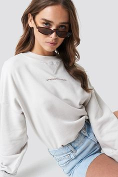 5e32c12fb NA-KD Over Sized Sweatshirt Passionate Person, Trends, Shopping, Neckline,  Long