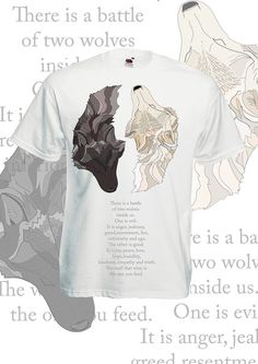 Wolf shirt inspirational quote. Native by ElusiveCatfishery