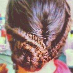 #hair #updo #braids #fishtail