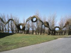 Running in Circles impressive stickwork installation is the creation of American artist Patrick Dougherty,