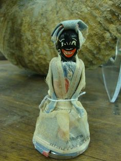 Vintage Aunt Jemima Mammy Doll Bell,Ring For Service,Black Americana Folk Art