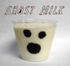 (more) Fun Ideas for Halloween Foods Plain milk with sharpie decorated cups:)