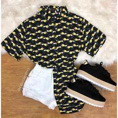 Novidades incríveis 🔥 Camisa tucano R$79,90 do P ao G 😱✨ Já no site & nas lojas físicas! . ▪️www.espvalentina.com.br #vempracá #vempraEspaço Teen Fashion, Fashion Outfits, Womens Fashion, Clothing Photography, Cute Swag Outfits, Tumblr Outfits, 2 Piece Outfits, Feminine Style, Cute Shirts