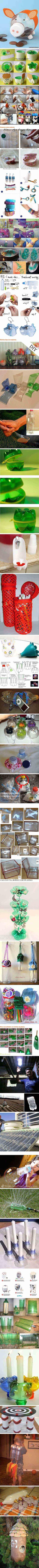 manualidades reciclando botellas de plastico