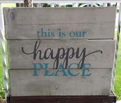"""9.5"""" x 11"""" wooden pallet sign Great addition to your home or as a housewarming gift for someone special. Whitewashed background with light blue and grey letteri"""