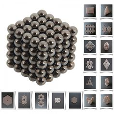 125pcs 5mm DIY Buckyballs Neocube Magic Beads Magnetic Toy Silver Black.  Check this out at the Tmart link on MomTheShopper.