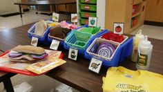 Here is our make believe subway shop. I made all the sandwich pieces out of felt. My pre-k kids can be sandwich artists.