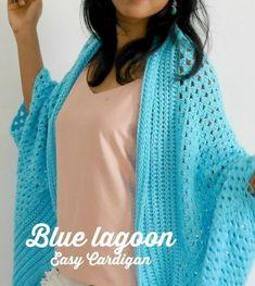 blue lagoon spring time easy crochet cardigan free pattern