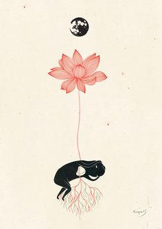 What has Rock'n Roll done to me? - Inspired by Radiohead - Lotus Flower:  Kaya H. Illustration & Design