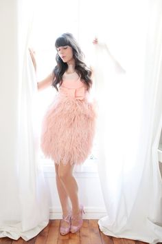 Ostrich Feather Style <3 Image Via: Cherry Blossom Girl