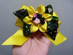 flores y moños en cinta para decorar accesorios para el cabello paso a paso
