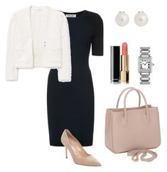 Your perfect business outfit by Winter & Co. on Polyvore featuring polyvore, fashion, style, Diane Von Furstenberg, MANGO, Manolo Blahnik, Cartier, Tiffany & Co., Chanel and Winter & Co.