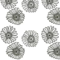 Barberton Daisy Trio custom fabric by andso for sale on Spoonflower Custom Fabric, Spoonflower, Fabric Design, Dandelion, Craft Projects, Daisy, Costumes, Quilts, Flowers
