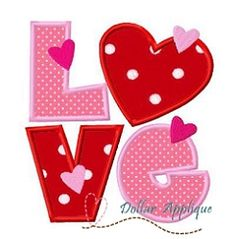 Love 2 Applique - 3 Sizes! | What's New | Machine Embroidery Designs | SWAKembroidery.com Dollar Applique