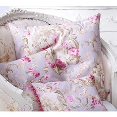 French Toile Floral Cushion - French Bedroom Cushion