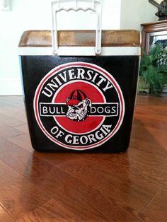 UGA University of Georgia Dawgs Bulldogs Red Black