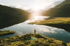 Switzerland Mountain Lake Sunrise - Landscape Photography by Michael Schauer