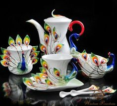 Image detail for -Peacock element franz porcelain tea set_Wisdom Porcelain