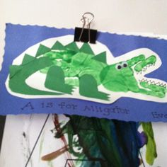 A is for alligator handprint craft