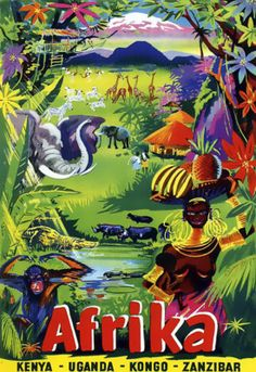 Afrika Travel Poster Early 1900s