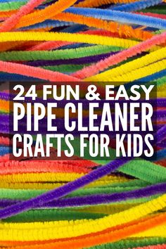 Crafting Made Fun: 24 Pipe Cleaner Crafts for Kids Fine motor meets creativitiy with this collection of super fun and incredibly unique pipe cleaner crafts for kids of all ages and abilities! Crafts For Kids To Make, Fun Crafts, Arts And Crafts, Summer Crafts, Kids Diy, Easy Crafts For Toddlers, Older Kids Crafts, Stick Crafts, Easter Crafts