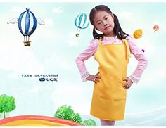 Little Chef Cute Kids Child Children Cooking Baking Tools Kitchen Dining Apron 7 COLORs Aprons (Yellow) wxhf