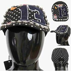 D&G Baseball cap for women Back Strap, Hat Sizes, Caps Hats, Baseball Cap, Riding Helmets, Studs, Captain Hat, Polka Dots, Clothes For Women