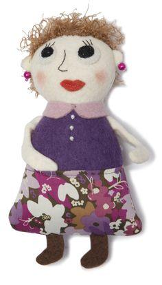 Teacher. Collection of toys Pocket Folks from Tumar Art Group. Felt-100% wool. Fabric-100% cotton. Machine and hand assembly. Filler - sintepon. Size: 8,5х19х4 cm.