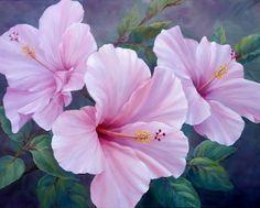 Art; Marianne Broome -Pink Hibiscus