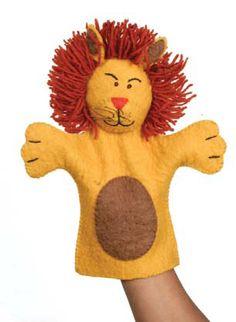 Lion Hand Puppet. SOLO MODELO.