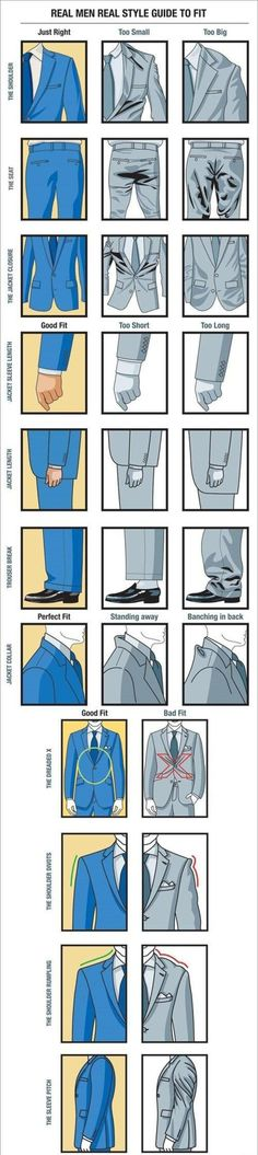 Suit facts for men.