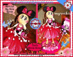 Centros de Mesa Infantiles, Fiesta Minnie Mouse myruchis.blogspot.com