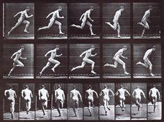 Nude male running by Eadweard Muybridge