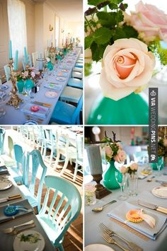 So cool! - Tiffany blue, with a vintage twist | CHECK OUT MORE GREAT GREEN WEDDING IDEAS AT WEDDINGPINS.NET | #weddings #greenwedding #green #thecolorgreen #events #forweddings #ilovegreen #emerald #spring #bright #pure #love #romance