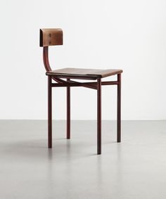 Jean Prouve - 'Cité' Chair, 1932 Steel tube and solid wood Collection Laurence and Patrick Seguin