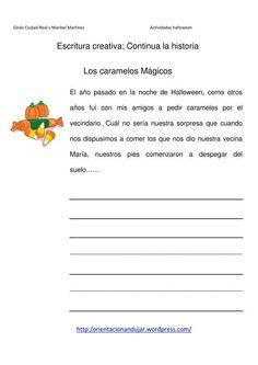 Escritura creativa continua la historia los caramelos que nos hacia volar IMAGEN Teaching Spanish, Spanish Language, Writing Activities, Conte, Third Grade, Teacher Resources, Literacy, Self, Classroom