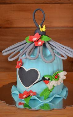 Hummingbird House Cake
