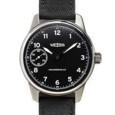 Weiss Standard Issue Field Watch Black Dial on Black Cordura