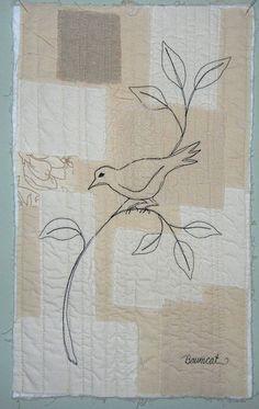 Bird Thread Sketch by baumcat -- love the background