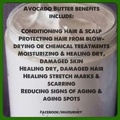 Benefits of Avocado Butter Natural Hair Tips, Natural Skin Care, Natural Hairstyles, Avocado Face Mask, Prevent Ingrown Hairs, Avocado Butter, Skin Mask, Moisturizer With Spf, Skin Firming