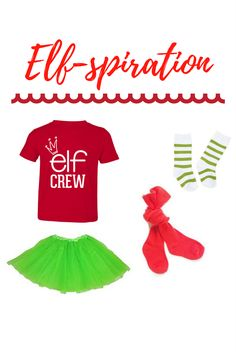 Elf costume for toddler girls, elf graphic tee, holiday shirts for kids, Christmas tees, Santa shirts