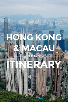 """Hong Kong & Macau Itinerary Guide (Updated) https://www.detourista.com/guide/hong-kong-macau-itinerary/ ✈ Plan a budget trip & itinerary in Hong Kong & Macau. This 3 days DIY """"theme park hopper"""" guide takes you to both cities' top sights, perfect for first-time travelers. Feel free to re-pin if you like the tips posted. Thanks for sharing ❤️ #detourista"""