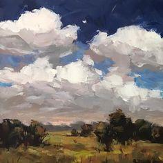 "388 Likes, 11 Comments - Shannon Bauer (@sbauerart) on Instagram: ""Waking View - 8x8 inches #originalart #originalpainting #cloudart #cloudpainting #landscapepainting…"""