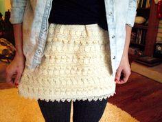 A CLOVER & A BEE: crochet skirt DIY