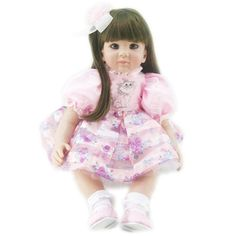 111.85$  Watch here - http://alig71.worldwells.pw/go.php?t=32446636710 - Soft Silicone Vinyl Reborn Baby Girl Toys Educational Princess Baby Doll 22 Inch Lifelike Vinyl Babyborn Dolls Gift