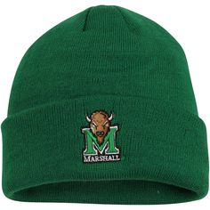 c02ce9dc8cc Marshall Thundering Herd Top of the World Simple Knit Hat with Cuff - Green