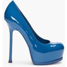 YVES SAINT-LAURENT Chinese Blue Tribtoo Pumps