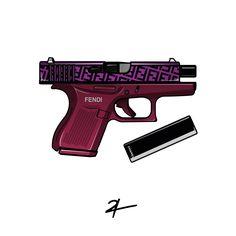 #streetwear #hypebeast #graphicdesign #logo #artwork #fendi #luxury #gun #glock #fashion