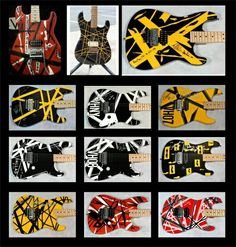 Eddy Vanhalen guitars..